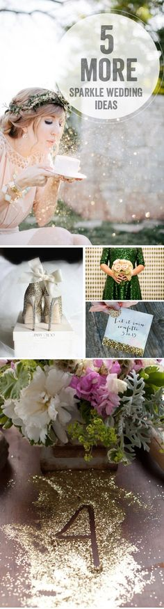 "The Bridal Dish Williamsburg loves all this unique touches for your ""sparkle"" wedding! www.thebridaldishwilliamsburg.com"