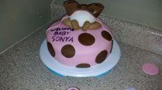 cake I made for a baby shower