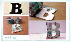 DIY letras washi tape Y carton pIuma