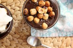 Chocolate hazelnut pudding... looks better than all of my Nutella dreams come true! from Joy the Baker