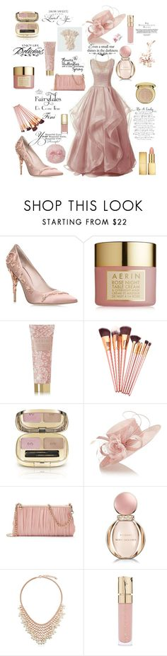 """""""Fairytale in pinks"""" by fini-i ❤ liked on Polyvore featuring RALPH & RUSSO, AERIN, Dolce&Gabbana, WALL, Jacques Vert, LC Lauren Conrad, Bottega Veneta, Bulgari, BERRICLE and Smith & Cult"""