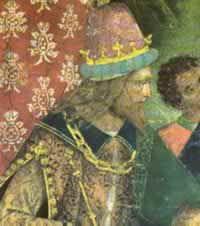 Cesare Borgia in the fresco by Pinturicchio