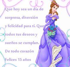 7 Sublimes Frases De Feliz 15 Años Happy Birthday Notes, Happy Birthday Wishes, Birthday Greetings, Lilac Wedding, Crochet Tablecloth, Happy B Day, Niece And Nephew, Shopkins, Lets Celebrate