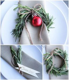 Christmas Table Decoration: Create a truly festive atmosphere – weihnachtsdeko-…, Mr. Johnny Stanton Christmas Table Decoration: Create a truly festive atmosphere – weihnachtsdeko-do it yourself-Red Ball-evergreen-branches gray-napkin – Christmas Lunch, Noel Christmas, Christmas 2019, All Things Christmas, Winter Christmas, Christmas Wreaths, Christmas Crafts, Christmas Napkins, Christmas Dinner Invitation