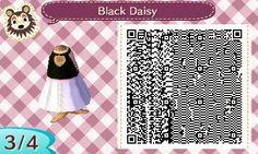 Opal — A very chic, black & white backless dress. ♡