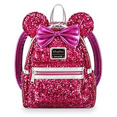 Shop the latest collection of Disney Parks Minnie Mouse Sequin Mini Backpack Loungefly ? Imagination Pink from the popular stores - all in one Minnie Mouse, Minnie Bow, Mouse Ears, Metallic Pink, Pink Sequin, Disney Parks, Walt Disney, Disney College, Princesa Elizabeth