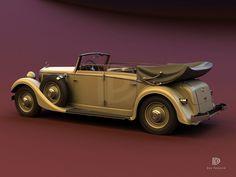 A Garagem Digital de Dan Palatnik | The Digital Garage Project: 1934 Mercedes Benz 290 Cabriolet D