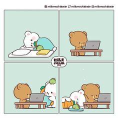 Cute Couple Comics, Cute Couple Cartoon, Cute Cartoon Characters, Cute Love Cartoons, Cute Comics, Cute Bear Drawings, Cute Cartoon Drawings, Cute Love Pictures, Cute Love Gif
