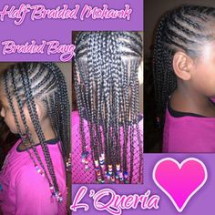 Cute Half Braided Mohawk