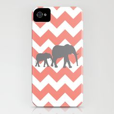 Chevron Elephants iPhone Case