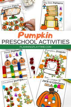 Looking for a fun Pumpkin Preschool Binder for kids? Check out these 8 Hands-On Pumpkin & Fall activities for Preschool or Kindergarten.