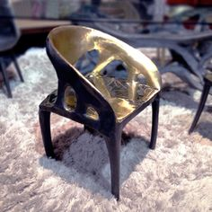 2014 BKLYN DESIGNS   Organic Modernism — forged bronze armchair Modernism, Armchair, Chairs, Bronze, Organic, Table, Inspiration, Furniture, Design