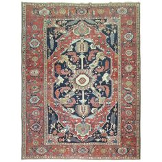Antique Persian Serapi Rug | From a unique collection of antique and modern…