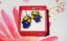 Cercei minioni din fimo #handmade #fimo #minions #earrings