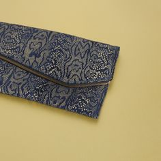 IMAN leather clutch in Blue
