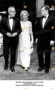 Joan Kennedy, Kennedy, Ted Kennedy Photo - Ted and Joan Kennedy with Lain Seay Washington ,D.C Photo Supplied by Globe Photos,inc.