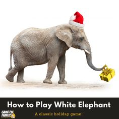 How To Play White Elephant Gift Exchange Fun Christmas Games, Holiday Party Games, Holiday Parties, White Elephant Game, White Elephant Gifts, Fun Games, Games To Play, Gift Exchange, Family Games