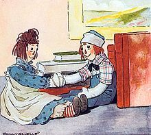 Raggedy Ann was my best friend when I was little...she is still with me in the attic, worn out face and all...