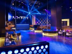 Haven Night Club - Explore Attraction in Atlantic City Nightclub Bar, Nightclub Design, Lounge Club, Bar Lounge, Club Ambiance, London Nightclubs, Der Club, Club Lighting, Hookah Lounge