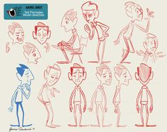 Model sheet sketches of Ted Parmalee for #TheBoingHeardRoundTheWorldupapix.com