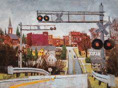 Fair Haven Skyline - by Vermont Artist Peter Huntoon
