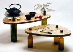 Mais mesas com base de vidro. Mais ideias no site www.ideiasdiferentes.com.br
