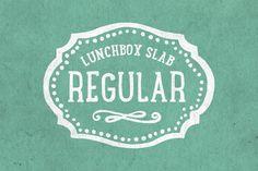 Lunchbox Slab Regular by kimmydesign on Envato Elements