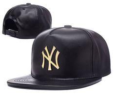 517bb91eab4 Cheap Wholesale New York Yankees Leather Snapback Hats 003 for slae at  US 8.90  snapbackhats