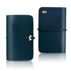 iPhone 4/4S Leather Cover Blue