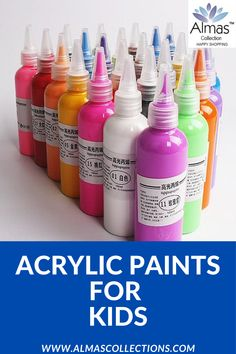 New Professional Acrylic Paints Art Drawing Supplies Birthday Gifts For Boys, Birthday Gifts For Girlfriend, Friend Birthday Gifts, Gifts For Kids, Acrylic Painting For Kids, Painting Walls, Acrylic Art, Toddler Gifts, Acrylic Colors