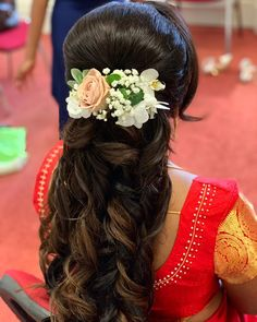 Image may contain: one or more people Indian Hairstyles, Wedding Hairstyles, South Indian Makeup, Moonlight Photography, Hand Embroidery Dress, Quinceanera Hairstyles, Hair Spa, Wedding Day, Church Wedding