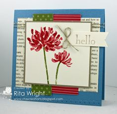 Rita's awesome card features Too Kind & Sweet Essentials. Love the colors!