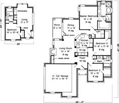 With In Law Suite Plans Master Down House Small Country Home Interior