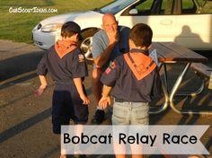 New Cub Scouts of all ages must earn their Bobcat rank advancement. Games make it fun to learn, and this Bobcat rank relay race is no exception. Cub Scout Oath, Cub Scouts Wolf, Tiger Scouts, Scout Leader, Boy Scouts, Cub Scout Games, Cub Scout Activities, Fun Activities, Relay Race Games