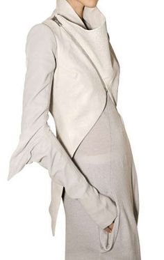 Simple + original detail = Styl | Rick Owens Leather, Elbow Wing Jacket