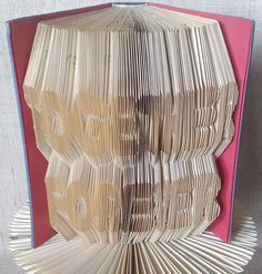 Items similar to Book folding pattern and FREE Tutorial - Together Forever - folded book art, origami, gift on Etsy Folded Book Art, Paper Book, Paper Art, Book Crafts, Paper Crafts, Crafts To Make, Diy Crafts, Art Walls, Book Folding Patterns