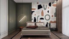 دکوراسیون اتاق خواب با نقاشی و بافتبعدی #1 - گروه طراحی ناتک (کلیه حقوق محفوظ است) Arty Bedroom, Bedroom Red, Modern Bedroom, Kids Bedroom, Bedroom Decor, Feature Wall Bedroom, Bedroom Wall Colors, Kids Room Design, Decoration