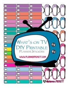 @planner.PICKETT: Functional TV free  diy Printable planner Stickers