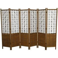 Mid-Century Six-Panel Folding Geometric Screen 1 Room Divider Headboard, Metal Room Divider, Small Room Divider, Room Divider Bookcase, Bamboo Room Divider, Living Room Divider, Room Divider Walls, Room Divider Screen, Divider Cabinet