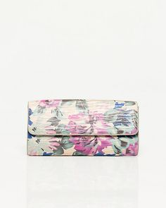 Statement Clutch - Fuchshia Petals on Teal by VIDA VIDA MQuOYk