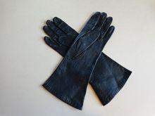 Leather Gloves Bonwit Teller Vintage 1960's Navy Blue Silk  $20  http://www.rubylane.com/item/676693-A756/Leather-Gloves-Bonwit-Teller-Vintage