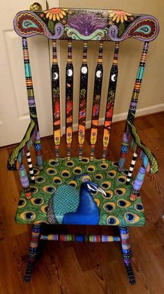 Peacock! Fantastic idea so colorfully accomplished!