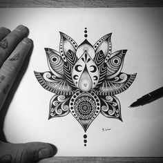 35 Awesome mandala lotus designs images
