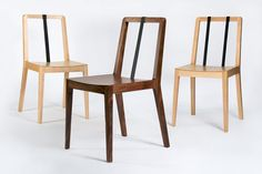 Great chairs - Leather and wood always go well together.
