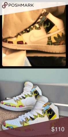 Nike Dunk High 'De La Soul's PRM DLS SB DEADSTOCK Listing is for a pair of Nike Dunk High SB 'De La Soul's in the classic white/firefly colorway. They are brand new in the original box and have never been worn. Fresh!! Nike Shoes Sneakers