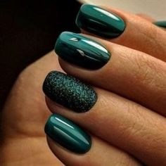 beautiful emerald green nail art designs - page 23 - nail design - # . - beautiful emerald green nail art designs – page 23 – nail design – - Green Nail Designs, Winter Nail Designs, Winter Nail Art, Autumn Nails, Nail Art Designs, Nails Design, Trendy Nails, Cute Nails, My Nails