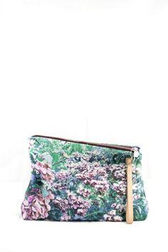 DALMATIA Tweed Pouch with Natural Strap - Zubi Design - Bolsos