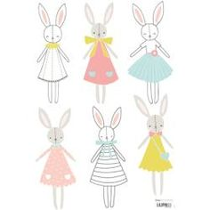 Stickers lapins fille Sweet Bunnies by Flora Waycott x 42 cm), Lilipinso. Stickers animaux de la collection Sweet Bunnies by Flora Waycott - Le Kids Patterns, Print Patterns, Lapin Art, Decoration Stickers, Baby Art, Kids Prints, Cute Illustration, Nursery Art, Cute Art