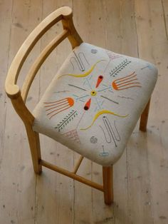 love / Tyrella Chair by Peter and Sally Nencini >> cute idea. embroidery and recover old chair