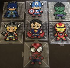 Your place to buy and sell all things handmade Superheroes perler beads Perler Bead Designs, Perler Bead Templates, Hama Beads Design, Diy Perler Beads, Pearler Bead Patterns, Perler Bead Art, Perler Patterns, Quilt Patterns, Perler Bead Disney